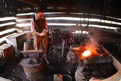 forge, iron, person, blacksmith,