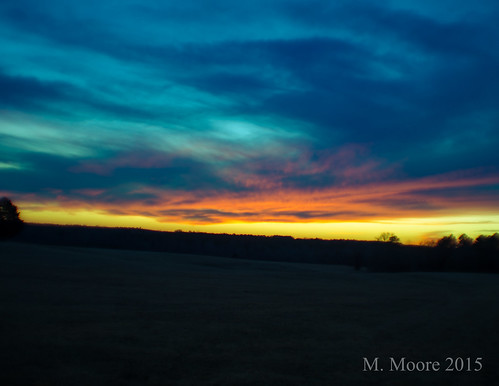 winter sunset nature colors landscape evening nikon northcarolina february homesweethome ridgeway openfield 2015 d5100 mvmoore