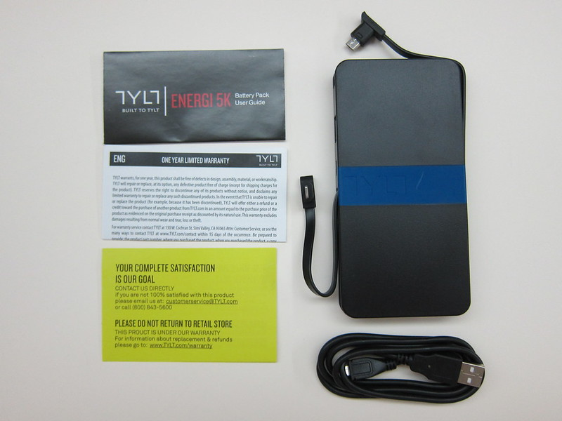 TYLT Energi 5k+ Battery Pack - Box Contents