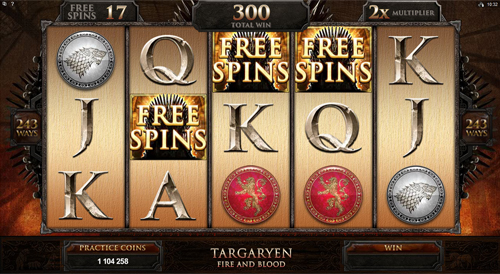 Game of Thrones - 243 Ways Free Spins Feature