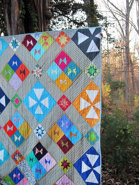 Improv Angles charity quilt
