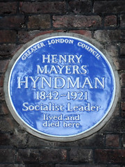 Photo of Henry Hyndman blue plaque
