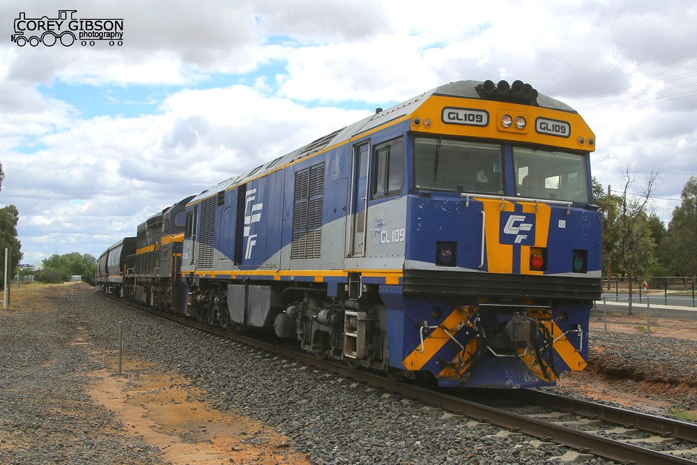 GL109 & C501 await a train order to depart Nhill by Corey Gibson