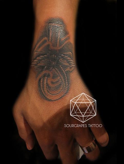 Egyptian Ankh Cross Tattoo