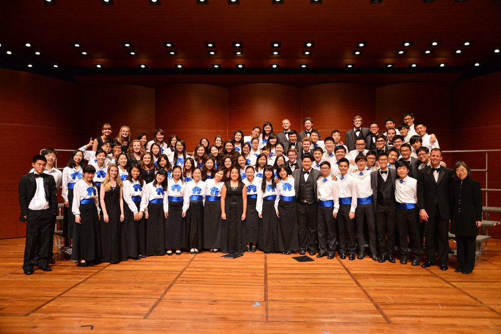 Fountain Valley High School Troubadours with The Music Office Youth Choir in the Academic Community Hall at Hong Kong Baptist University