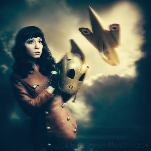 Bettie Page Rocketeer ~ by Riddle