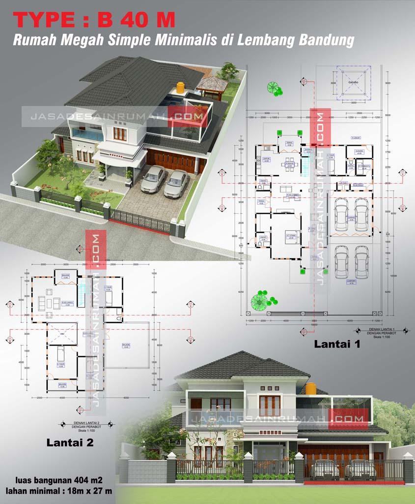 Rumah Megah Simple Minimalis Di Lembang Bandung Jasa Desain Rumah