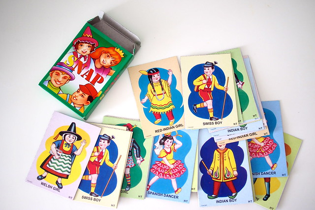 Snap card game. retro nostalgic old school childhood games, 1980s Singapore