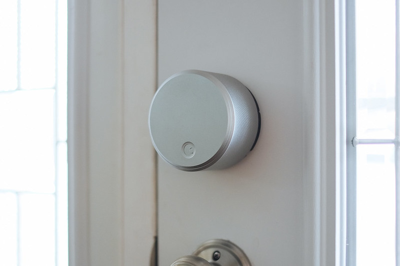 August Smart Lock installed on my door