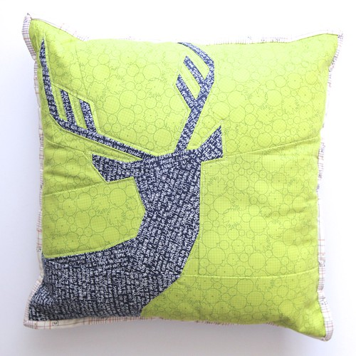 Not so spring deer - cushion cover