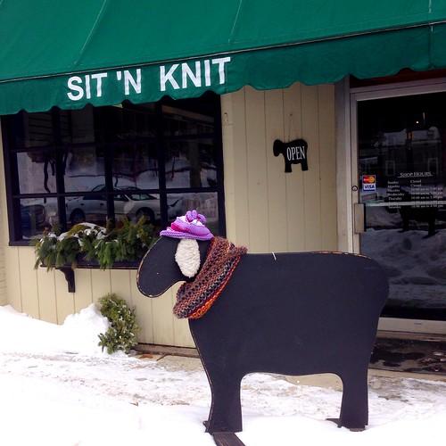 Sit and knit yarn shop Melrose MA