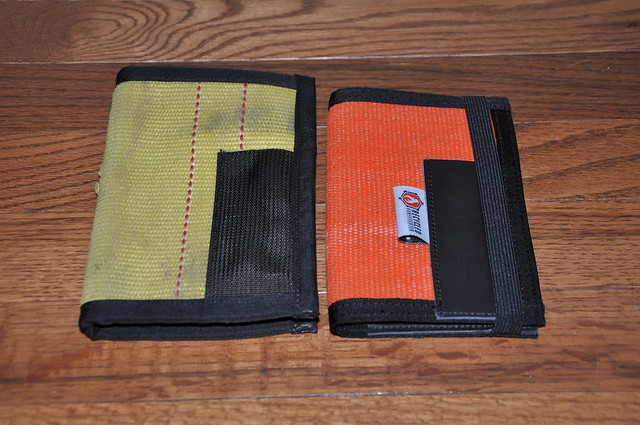 Recycled Firefighter Inspector notebook cover, v1 and v2.