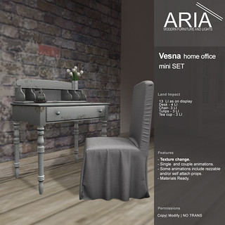 Vesna home office @ Shiny Shabby