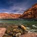 rushing Colorado River near Lee's Ferry location, Arizona