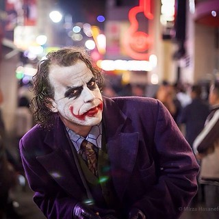 Why so serious? Heath Ladger impersonator