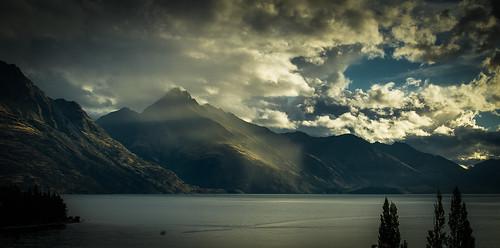 sunset newzealand lake mountains clouds 35mm prime evening nikon otago queenstown wakatipu d5100
