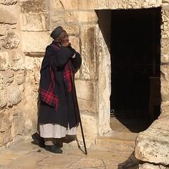 Man in front of Adam's grave church #nofilter #jerusalem #israel #dinreisepartner