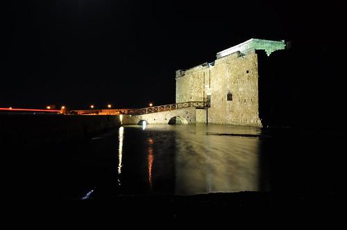 longexposure castle architecture night nikon harbour cyprus aviator byzantine paphos d90
