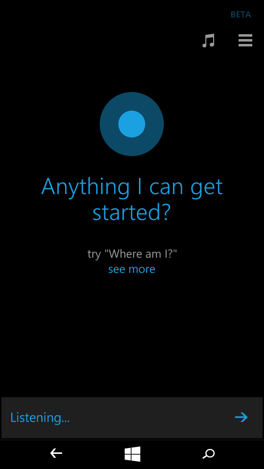 Buttons Search Cortana