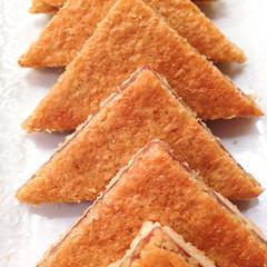 Almond Raspberry  Triangles