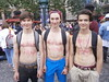 HOT YOUNG HUNKS at the PARIS PRIDE ! ( safe photo )