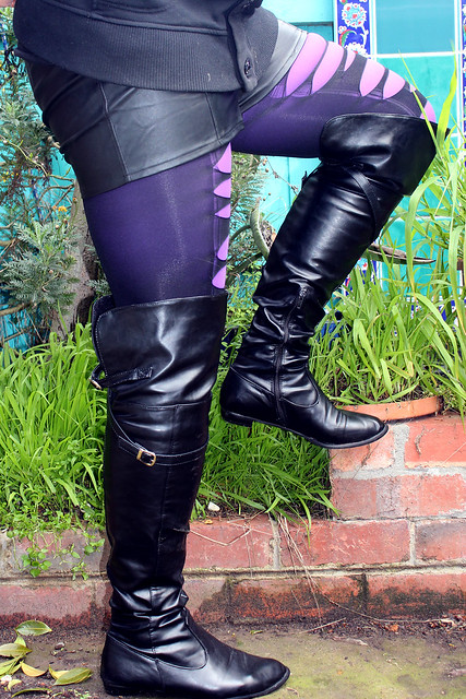 Layered Tights and Tall Boots