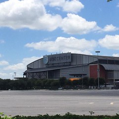 Home of the Spurs. I was wearing my Cavs shirt...#GoCavs #Champs