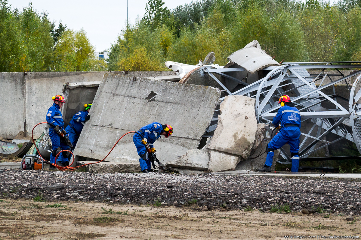 Учения аварийно-спасательных служб в Борисполе