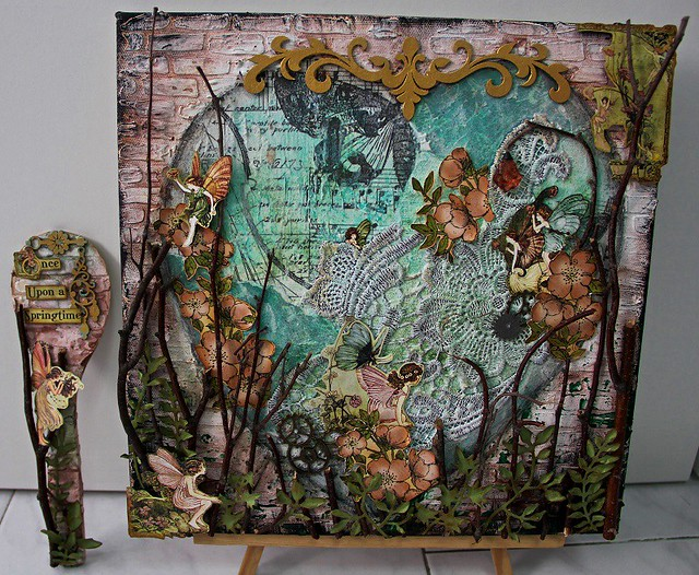 """Secret Faerie Garden"" Canvas and Spoon"
