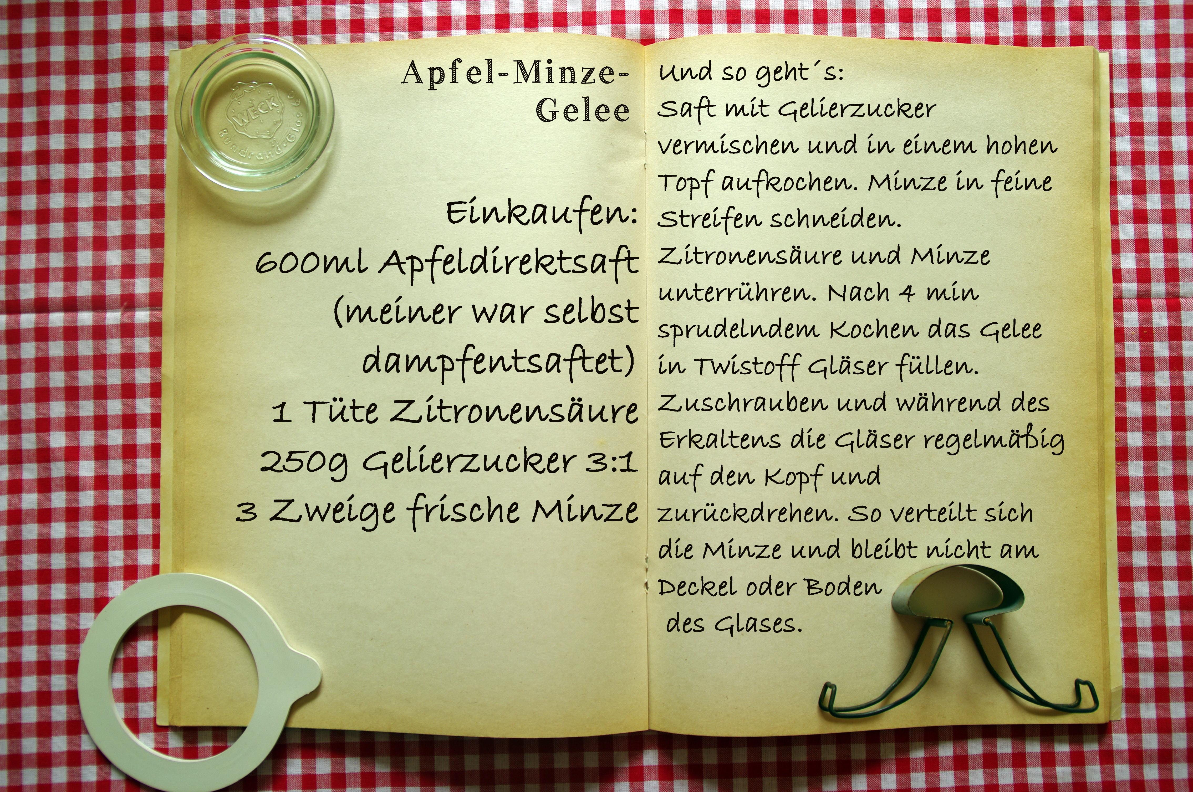 Einkaufszettel Apfelminzegelee by Glasgeflüster