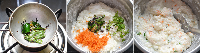 How to make samai curd rice - Step3