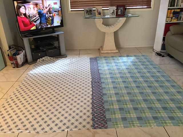 Feather Quilt Basting