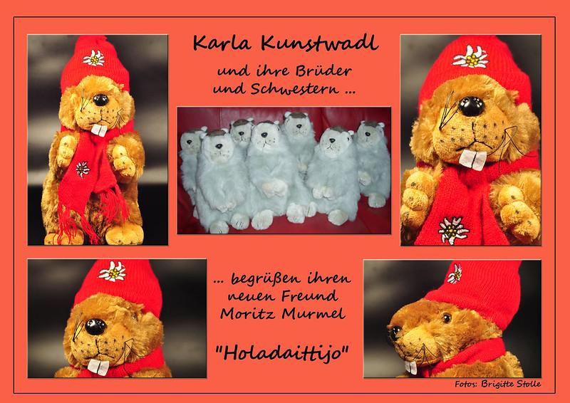Murmeltier Karla Kunstwadl Moritz Murmel Jodeln Alpenländer Foto Brigitte Stolle