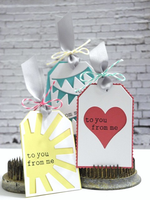 To You From Me Tag Trio by Jennifer Ingle #spellbinders #tags #diy