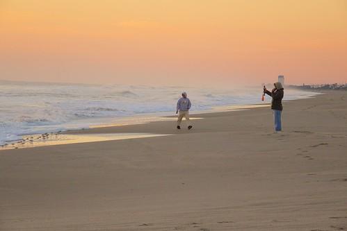 ocean beach sunrise dawn sand waves florida indialantic