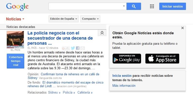 This web page in Spain... no más!