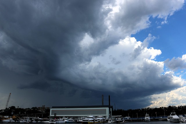 Storm cell over Rozelle