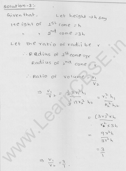 RD Sharma Class 9 solutions Chapter 20 Surface Area and volume of A Right Circular cone Ex 20.2 3