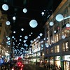 Oxford Street Christmas lights - and no, I wasn't shopping there. I'm not crazy!