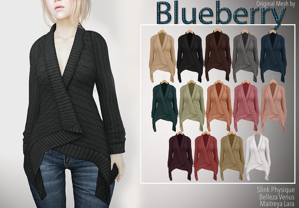 Blueberry Sweater Cardigans