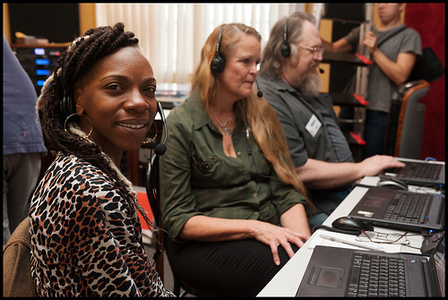 The phone bank during WWOZ Spring Pledge Drive 2015. Photo by Ryan Hodgson-Rigsbee www.rhrphoto.com