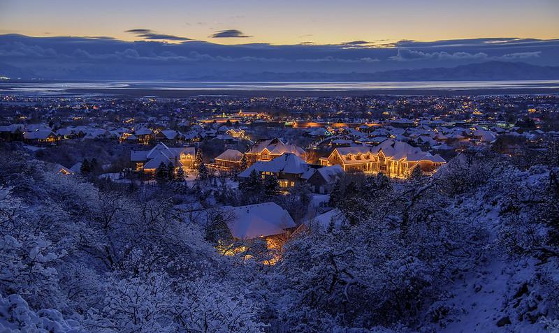 Snowy Utah @ dusk