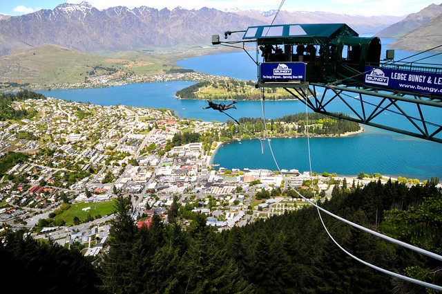 The Ledge Bungee in Queenstown, NZ