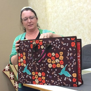 Nancy's amazing QuiltCon tote