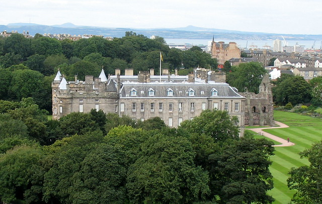 Holyroodhouse and the Abbey ruins, Edinburgh, Scotland