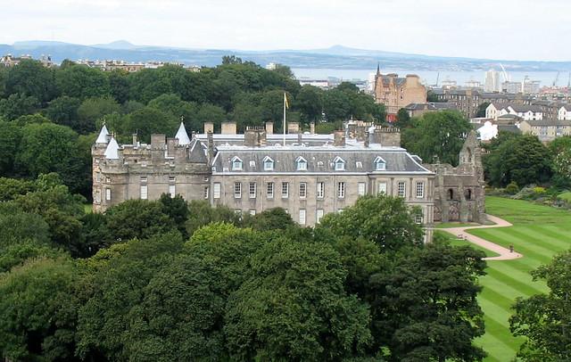 Holyroodhouse and the Abbey ruins, Edinburgh, Scotland