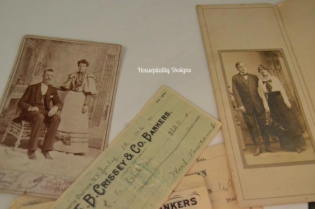 Antique Photographs/checks-Housepitality Designs