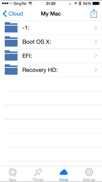 Acronis True Image - iOS App - My Mac