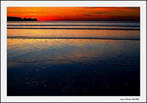 sunset sea sky sun mer seascape beach nature canon soleil brittany sigma bretagne ciel paysage plage jmfaure crozgat29