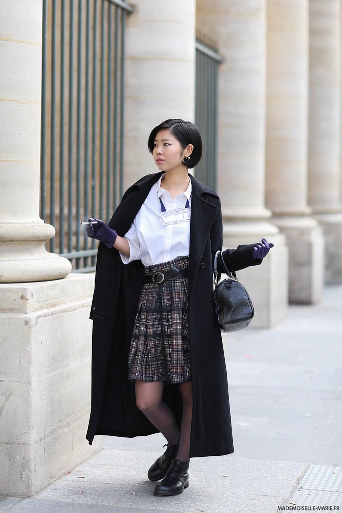 Yuki at Paris fashion week